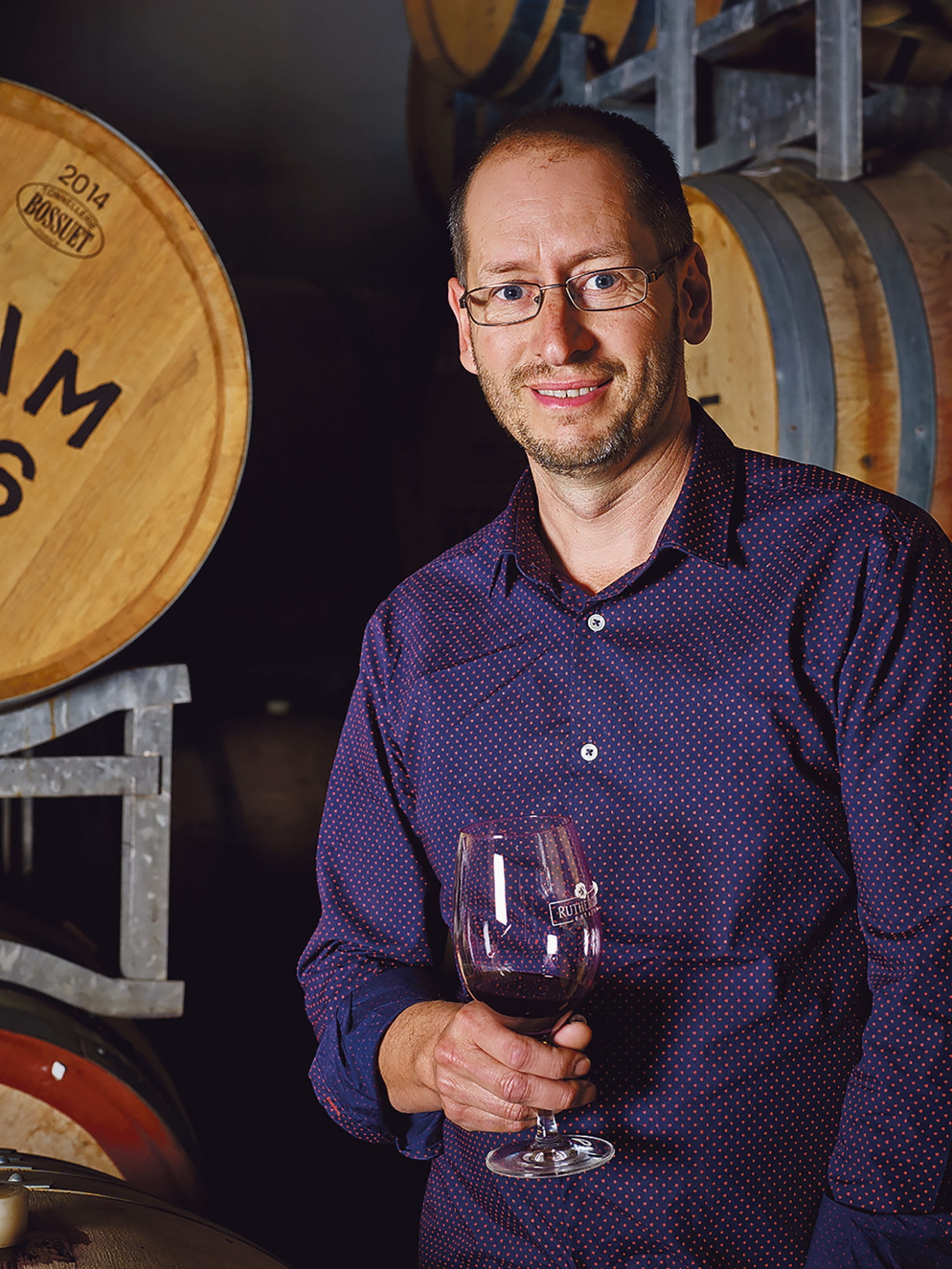 Winemaker and general manager Marc Scalzo
