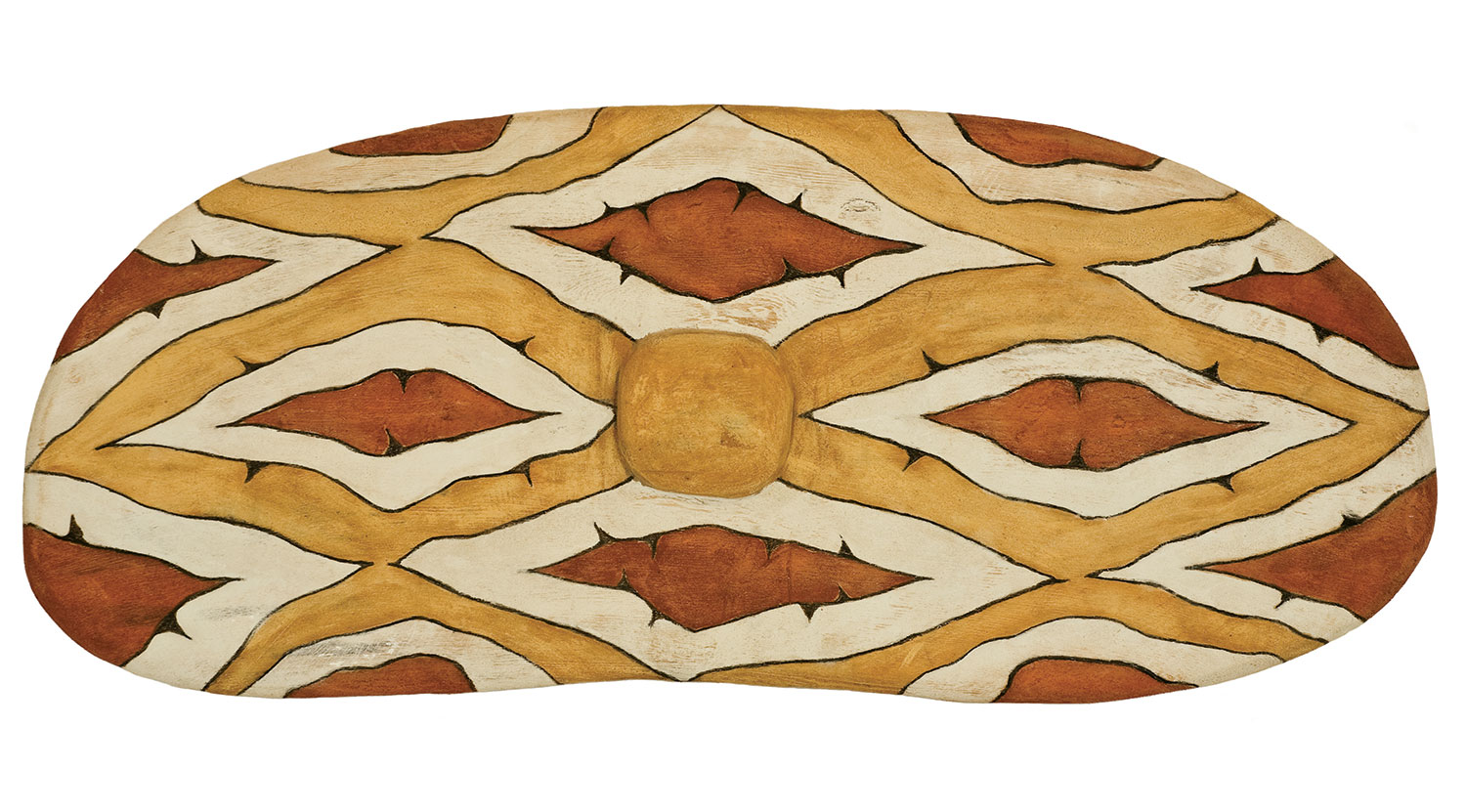 Russell Butler, Warrgamay Design, 2007 Natural ochre on fig wood, 90cm