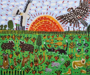 Trevor 'Turbo' Brown Dreamtime Family (All Animals Running Free), 2009
