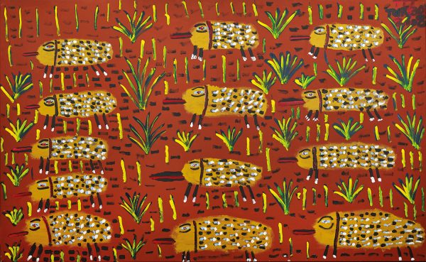 Trevor 'Turbo' Brown March of the Echidnas, 2009 199 x 121cm, Acrylic on linen