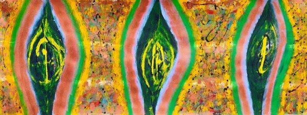 nside the Honey Bee Nest, 2010 202 x 78cm, Acrylic on canvas