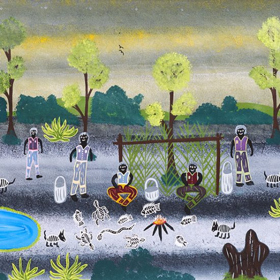 Adrian King, Mosquito Place, 2005 93 x 239cm, Acrylic on canvas. Price: $3,500