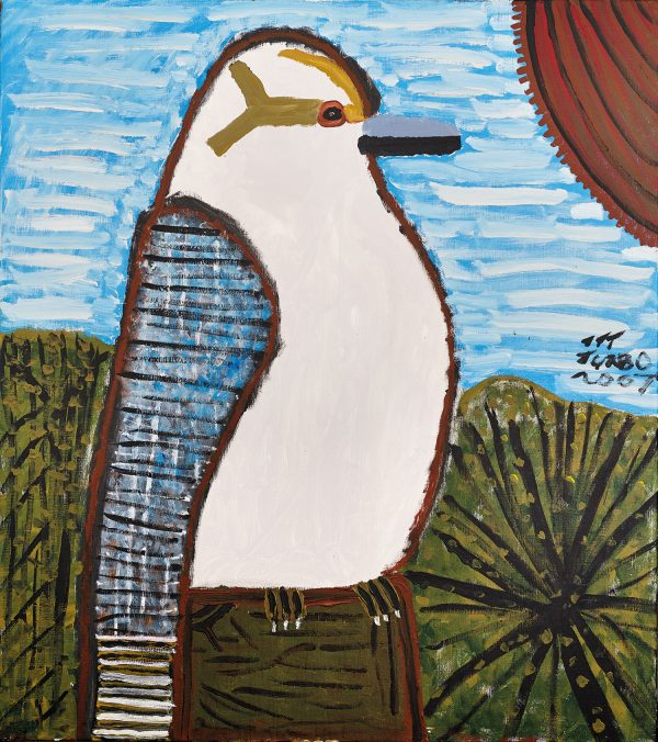 Trevor 'Turbo' Brown Kookaburra Looking Out for a Snake, 2007 138 x 122cm, Acrylic on linen