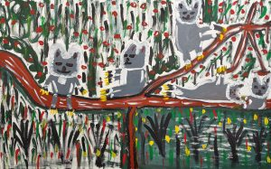 Trevor 'Turbo' Brown Lazy Koalas Not Doing Nottin, 2008 199 x 121cm, Acrylic on linen