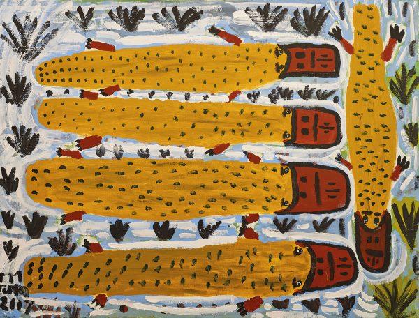 Trevor 'Turbo' Brown Family Platypus, 2008 123 x 92cm, Acrylic on linen