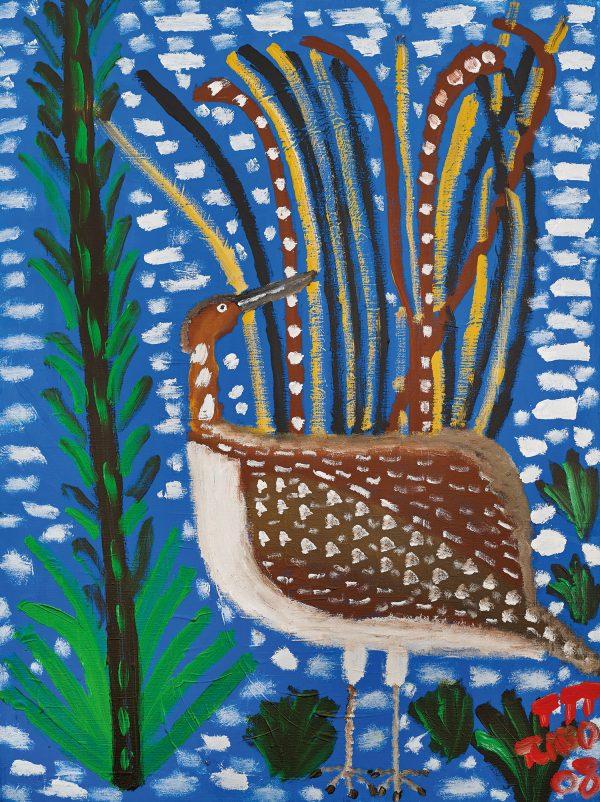 Trevor 'Turbo' Brown Lyre Bird, 2008 92 x 123cm, Acrylic on linen
