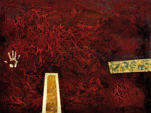 Craig Charles My Claim Over Sacred Land, 2008 184 x 138cm, Acrylic on linen